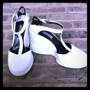 Prada Spazzolato wedge shoes
